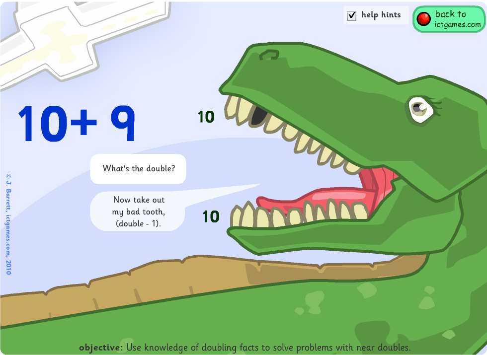 math worksheet : tens and units games  number square activities  adding 9 11 19  : Near Doubles Addition Worksheet