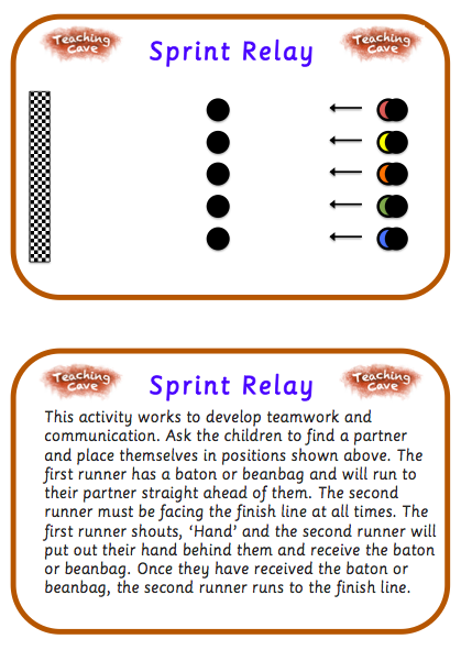 Athletics Activities For Ks1 And Ks2 Pe