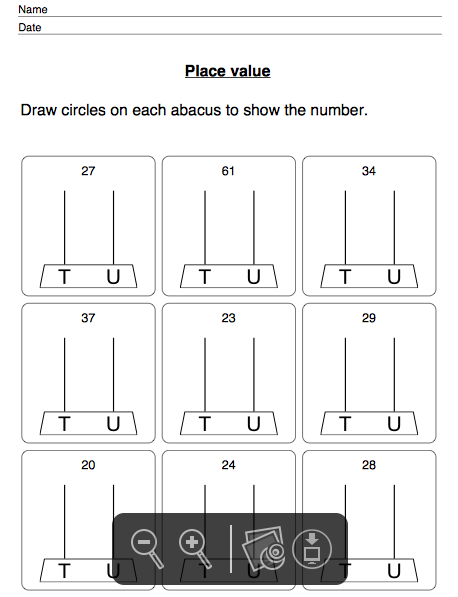 Place Value Worksheets : place value worksheets level 1 Place ...