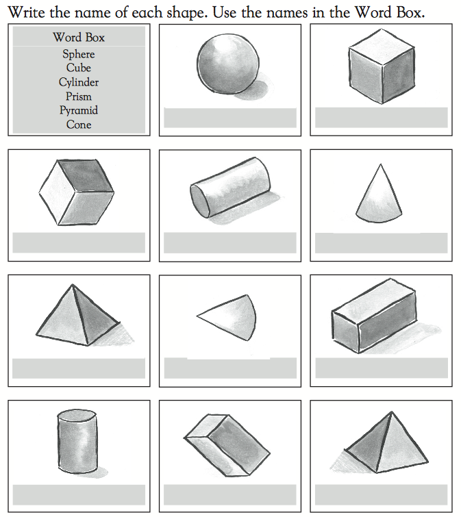 how to teach 3d shapes to year 1