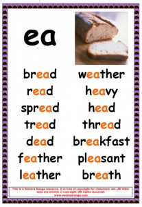 Printables Ea Words ee and ea worksheets flashcards phonics words pictures
