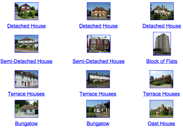 Houses and homes topic resources houses and homes games for Different kinds of houses