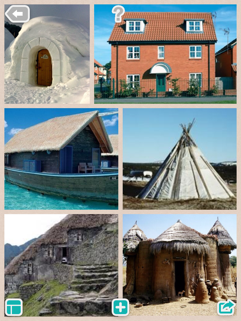 Collage Of Types Of Houses