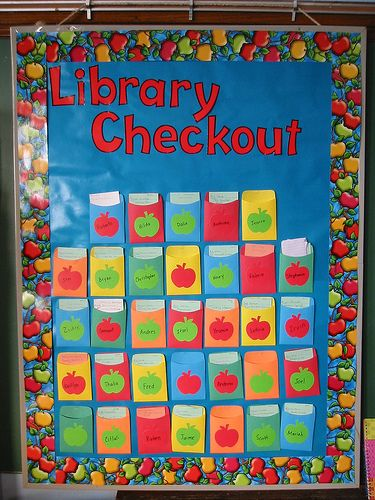 Classroom Display Ideas Ks1 ~ Library checkout teachingcave