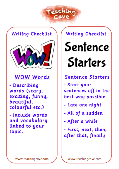 Punctuation on Starters Worksheet 3