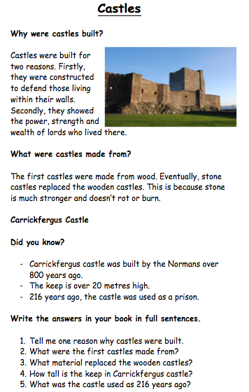 Teaching Castles To KS1 Resources Knights