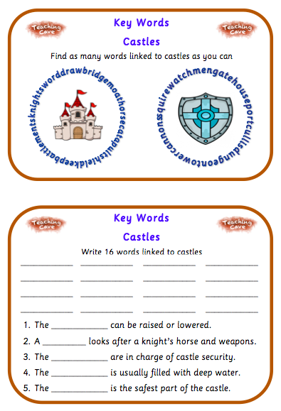 Castles To Ks1 And Ks2 Castles Resources Knights Literacy