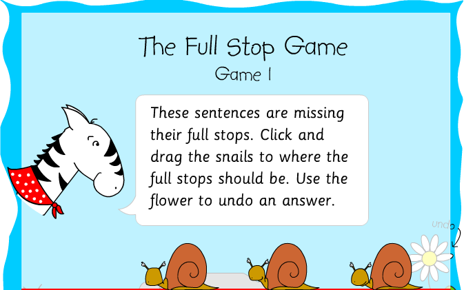 Correct Full Stops And Capital Letters