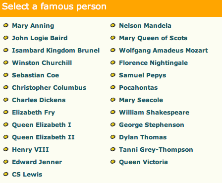 KS1   Famous People   Topic Resources   Resource