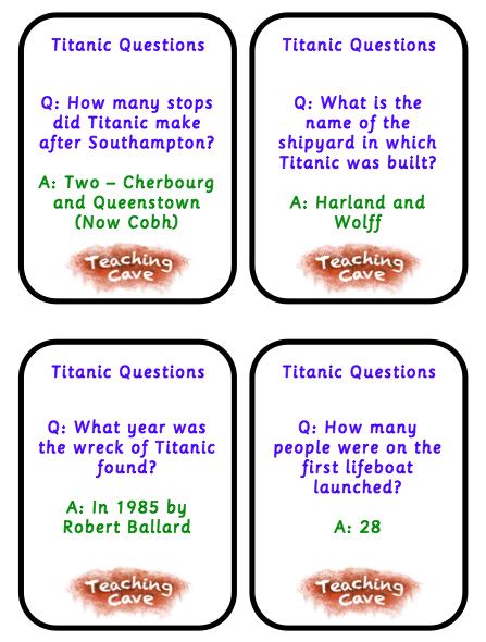 Titanic Lesson Ideas And Resources Titanic Teaching