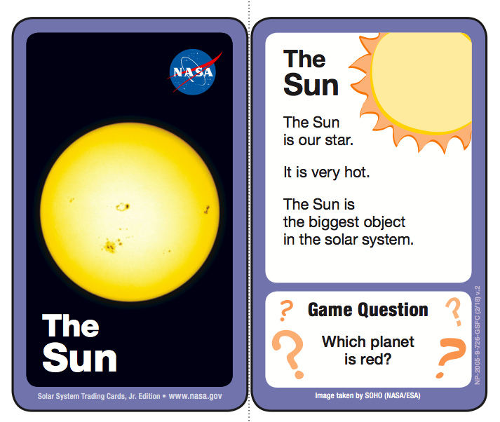 solar system fact cards - photo #17
