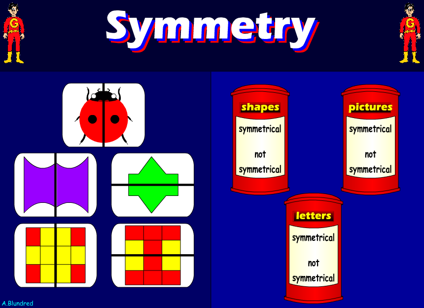 how to explain symmetry to year 3