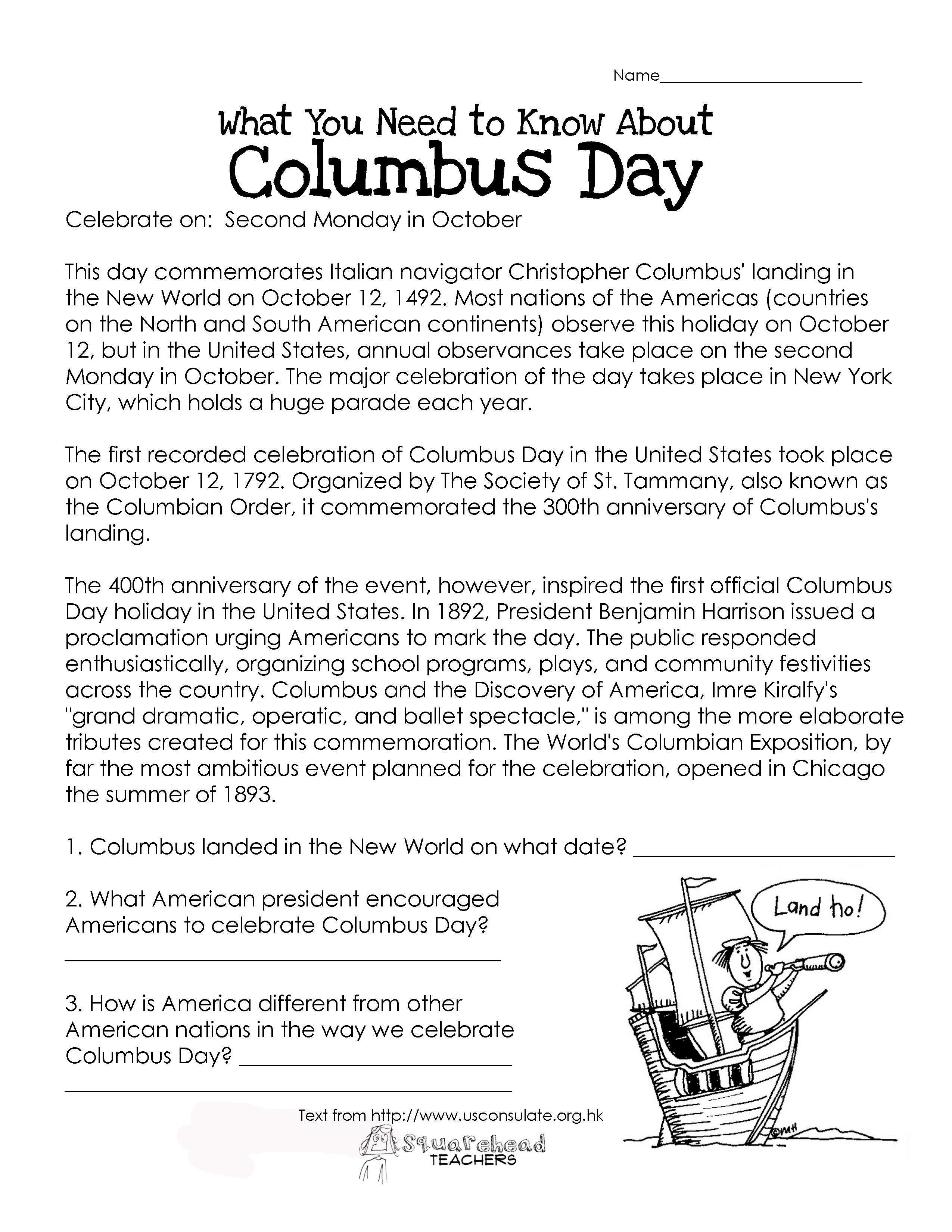 - Christopher Columbus Teaching Resources KS1 And KS2