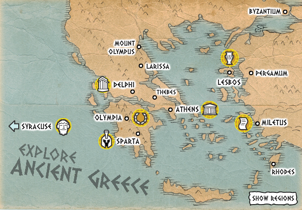 Ancient greece topic year 3 year 4 year 5 year 6 interactive map gumiabroncs Image collections