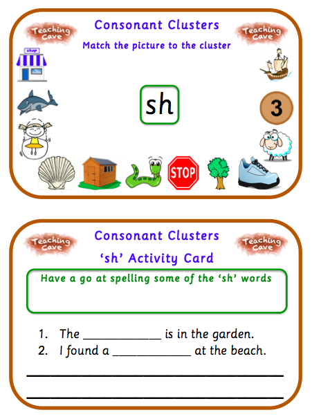 teaching initial consonant clusters Lots of game boards for initial consonants, initial consonant blends, and more 86 colorful pictures are provided to help you teach consonant blends and digraphs.